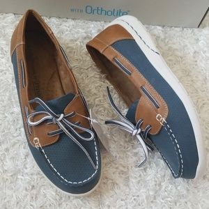 NWT Wide Width Slip On Lightweight Boat Shoes